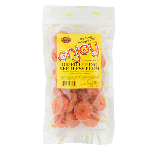 Enjoy Dried Li Hing Seedless Plum - 2 oz or 8 oz