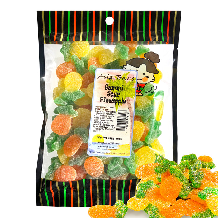 Gummi Sour Pineapples