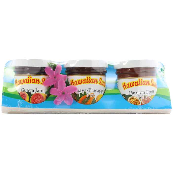 Hawaiian Sun Aloha 3 pack Jam & Jelly Gift Set