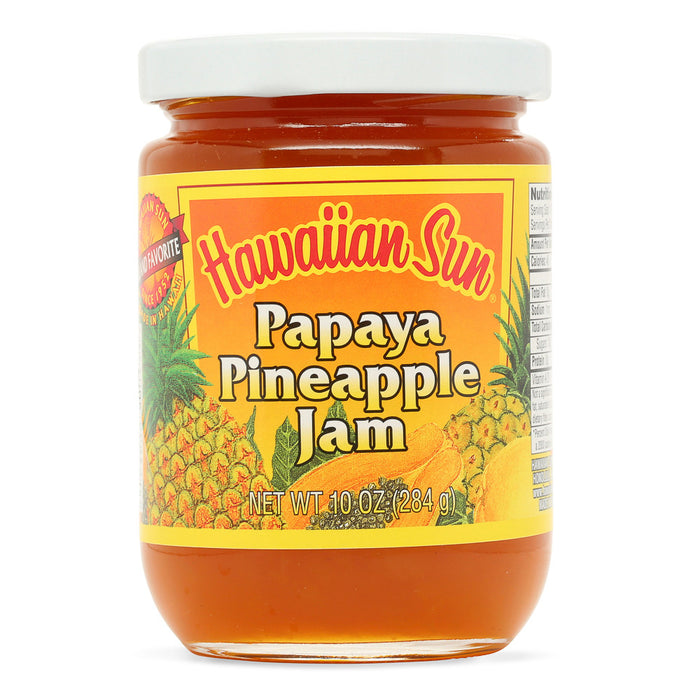 Hawaiian-sun-papaya-pineapple-jam-10-oz-jar-front
