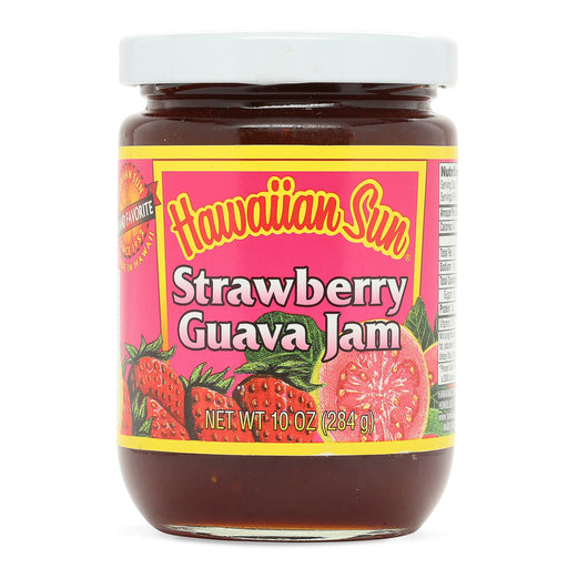 Hawaiian-sun-strawberry-guava-jam-10-oz-jar-front