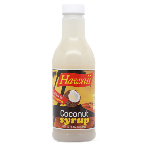 Hawaii Coconut Syrup 10 oz front
