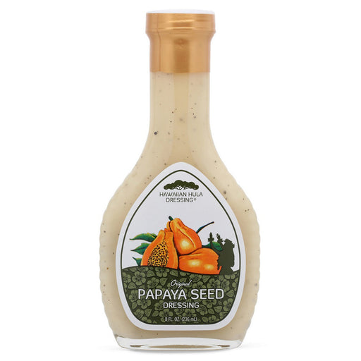 Hawaiian-Hula-papaya-seed-dressing-8-oz-bottle-front