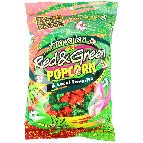 Hawaiian Hurricane Red & Green Popcorn 6 oz Bag