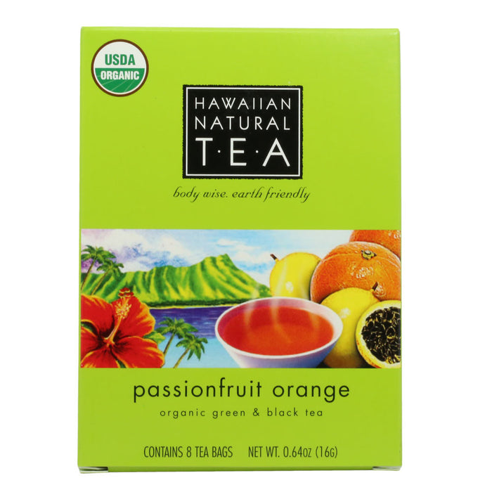Hawaiian Natural Organic Passionfruit Orange Tea Box front