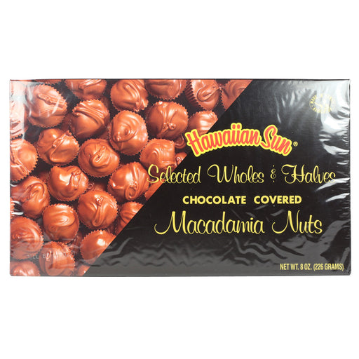 Hawaiian Sun Selected Wholes & Halves Chocolate Covered Macadamia Nuts - 8 oz