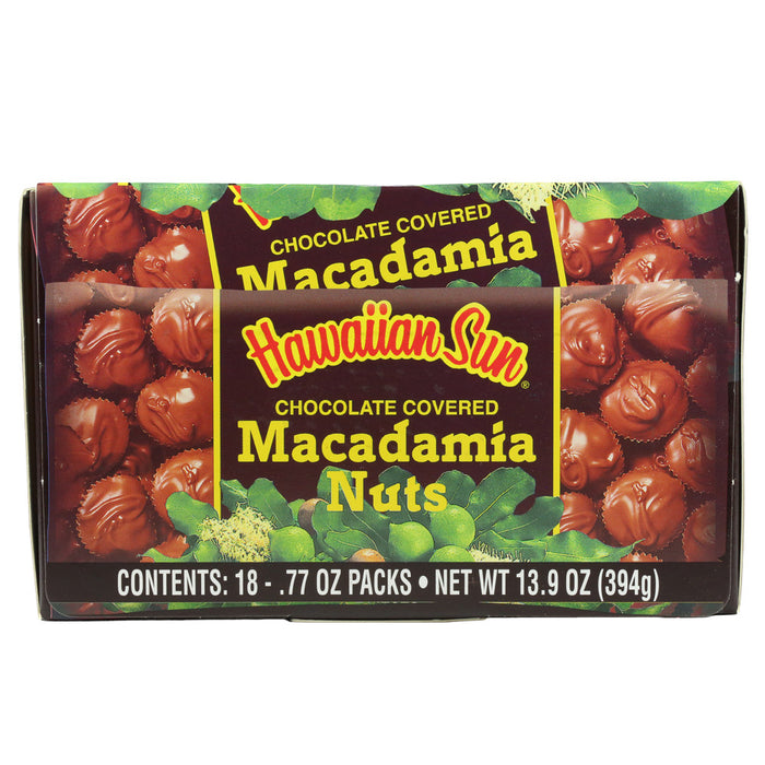 Hawaiian Sun Chocolate Macadamia Nuts - 18 Pack Box Set