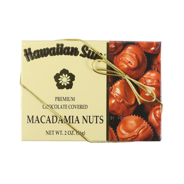 Hawaiian Sun Deluxe Chocolate Covered Whole Macadamia Nuts -  Asst sizes
