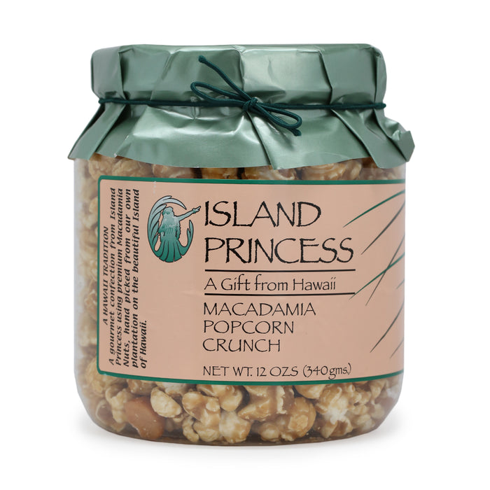 Island Princess Macadamia Popcorn Crunch - 12 oz Jar