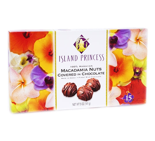 Island Princess Kahakea and Napua Macadamia Nuts Covered in Chocolate - Variety 6 pk