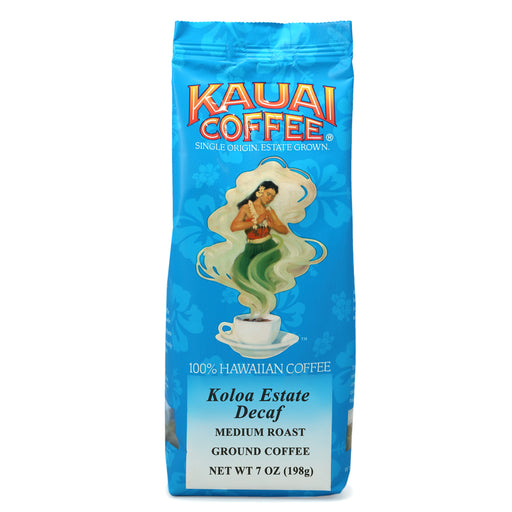 Kauai Coffee Koloa Estate Medium Roast DECAF Ground - 7 oz