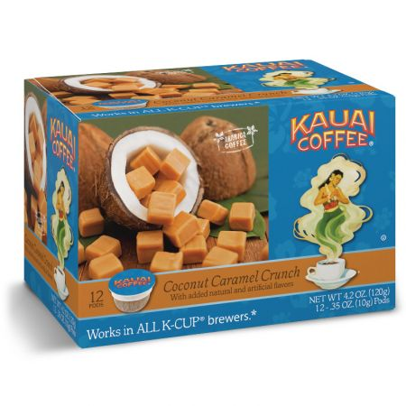 Kauai Coffee Coconut Caramel Crunch Roast K-Cup