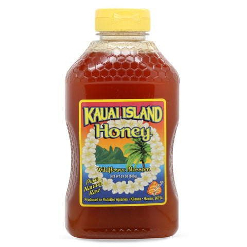 Kauai-island-raw-wildflower-honey-24-oz-front
