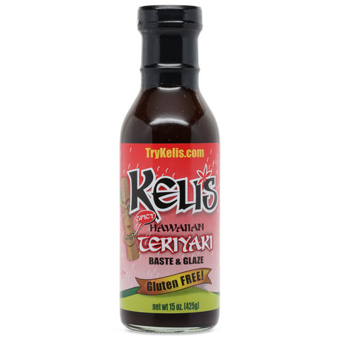 Keli's Spicy Hawaiian Teriyaki Baste & Glaze - 15 oz