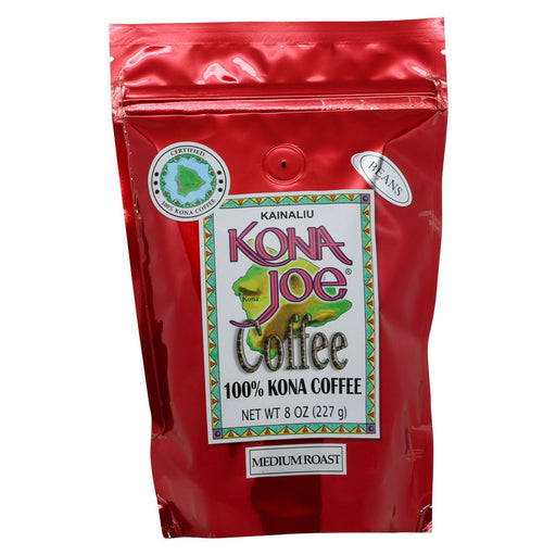 Kona Joe Coffee Medium Roast Whole Bean 8 oz