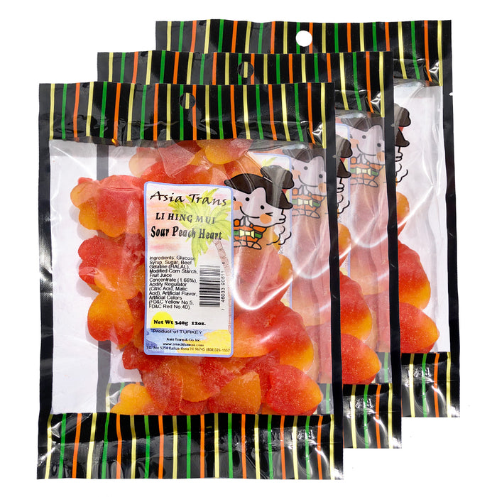 Li Hing Mui Sour Peach Hearts