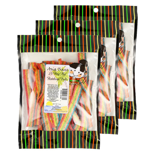 Li Hing Mui Rainbow Belts - 10 oz (Pack of 3)