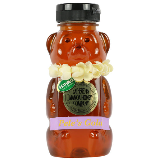 Manoa-Honey-Co-peles-gold-12-oz-bear-front