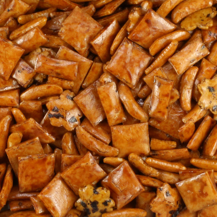 Mixed Arare Rice Crackers close up