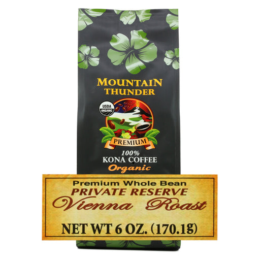 Mountain Thunder Organic Vienna Roast 100% Kona Coffee - 6 oz