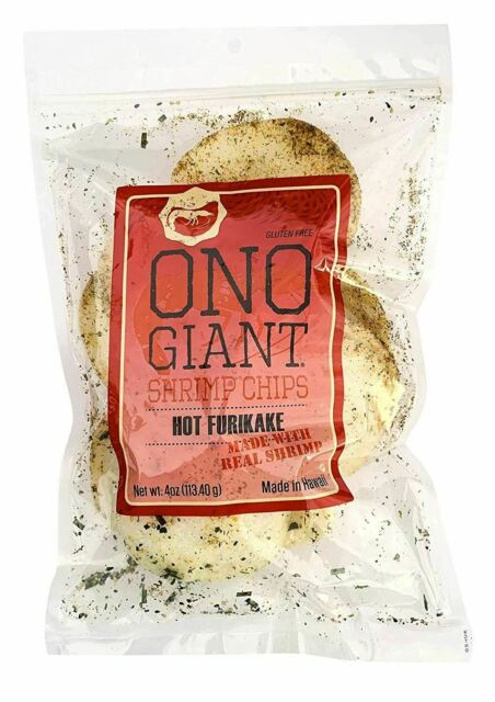 Ono Giant Shrimp Chips HOT Furikake - 4 oz
