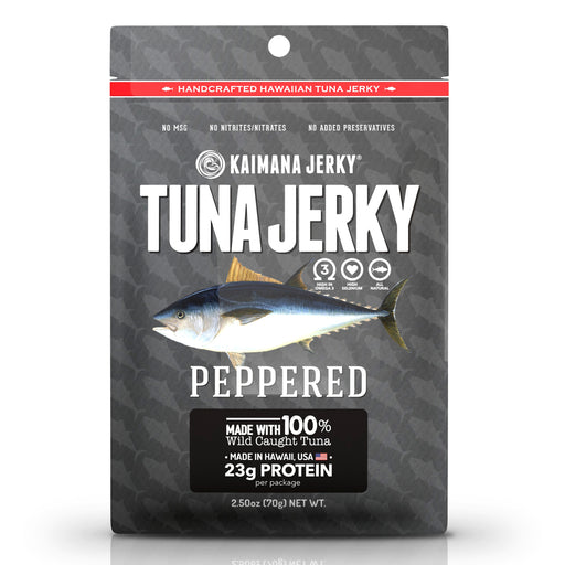 Peppered Ahi Tuna Jerky
