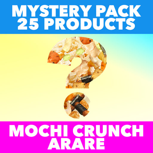 25 ITEM MYSTERY PACK - Mochi Crunch Arare Rice Crackers & Cuttlefish