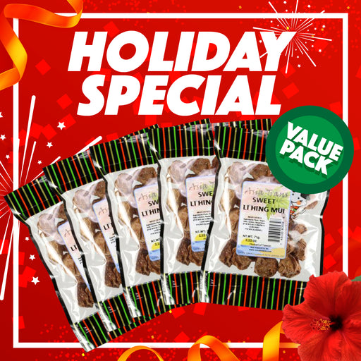 Holiday Special - Sweet Li Hing Mui 5 Pack