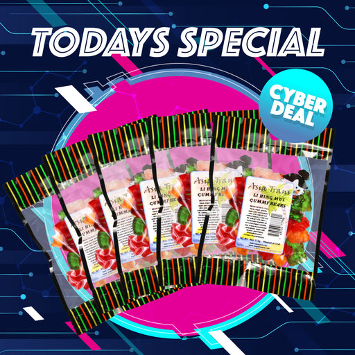 Cyber Deal - Li Hing Mui Gummy Bears 5 Pack