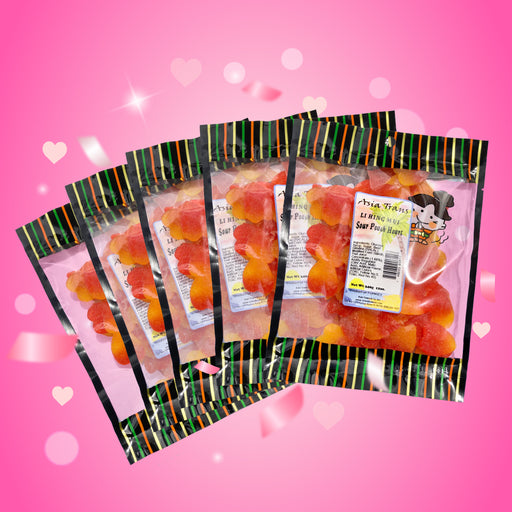 Holiday Special - Li Hing Mui Peach Hearts 5 Pack