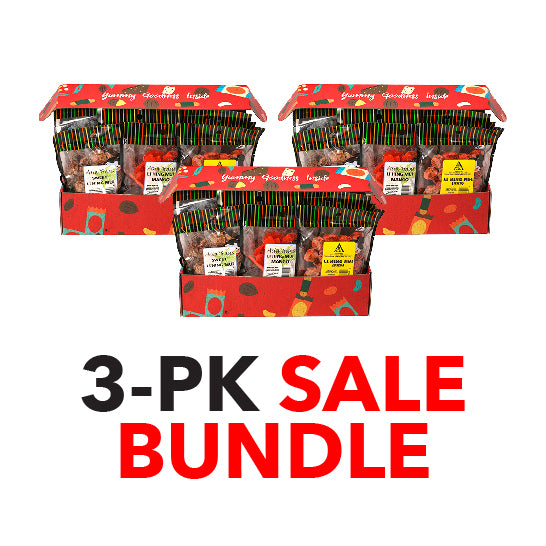 Li Hing Mui Crack Seed Assortment Gift Box 3-Pack SALE Bundle