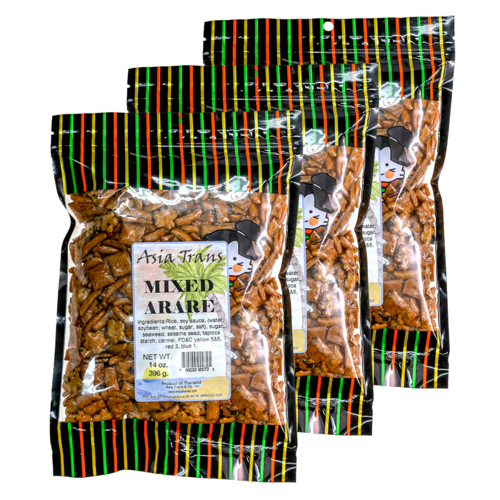 Mixed Arare Rice Crackers - 3 Pack (3/14 oz)