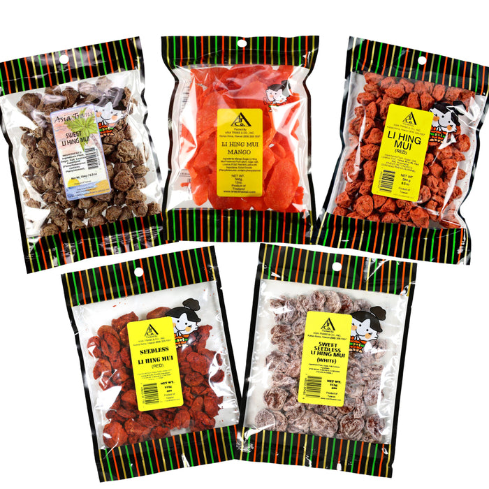 [NEW ITEM #6] Crack Seed Favorites - All Kine Li Hing Mui