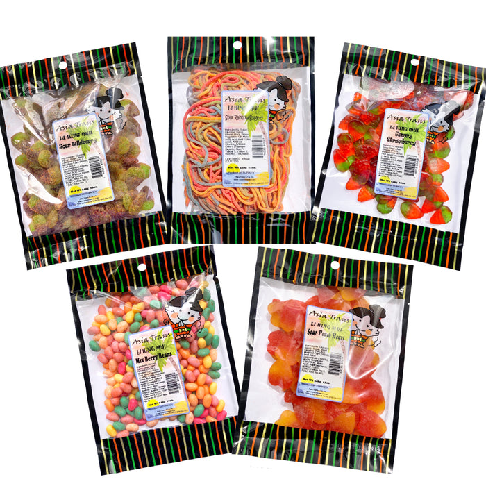 [NEW ITEM #4] Wild, Fruity Fun Bundle - Li Hing Mui Gummy Candy