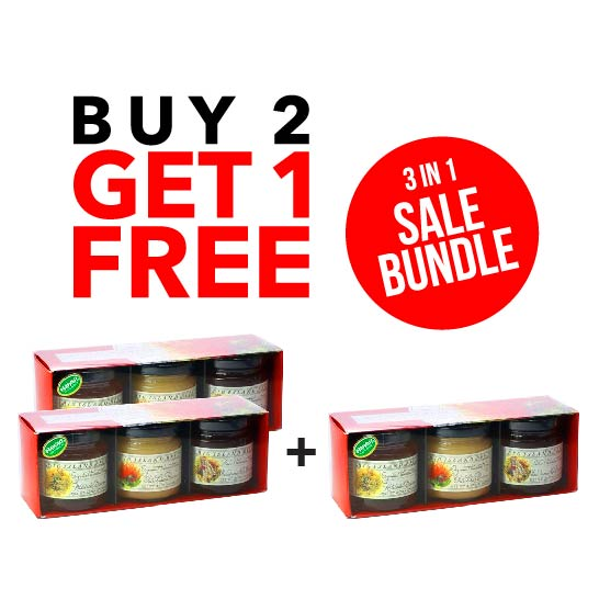 BUY 2 GET 1 FREE - Big Island Bees Organic Honey Gift Set
