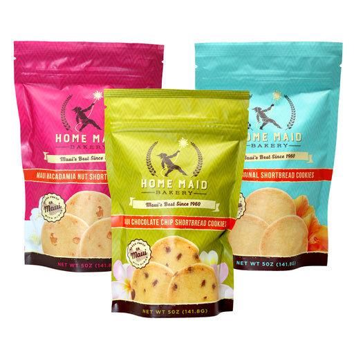 Home Maid Bakery Maui Shortbread Cookies Variety Pack