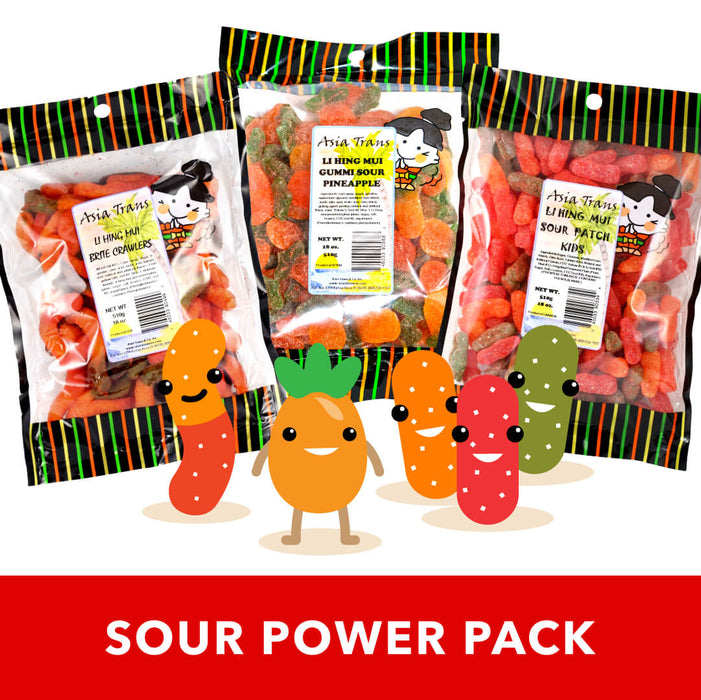 NEW! Li Hing Mui Gummi Sour Power Pack