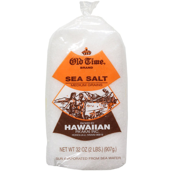 Old Time Hawaiian Sea Salt - 2 lbs or 5 lbs