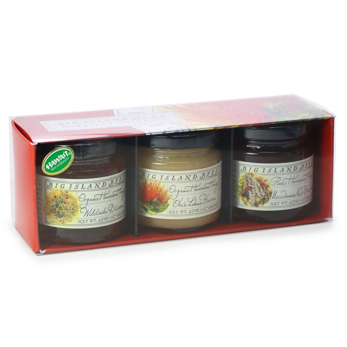 Big Island Bees Organic Honey Gift Set Front