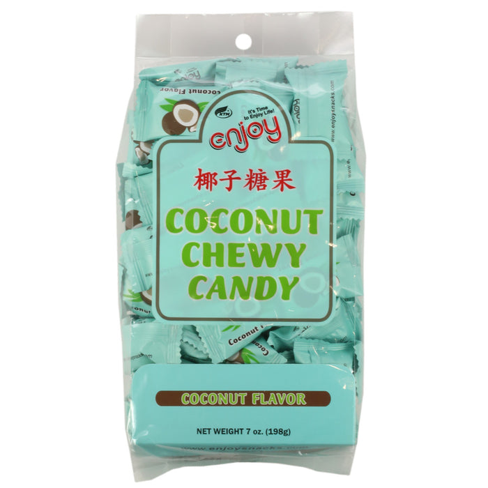 Enjoy Brand Chewy Coconut Candy individually wrap 7 oz Bag