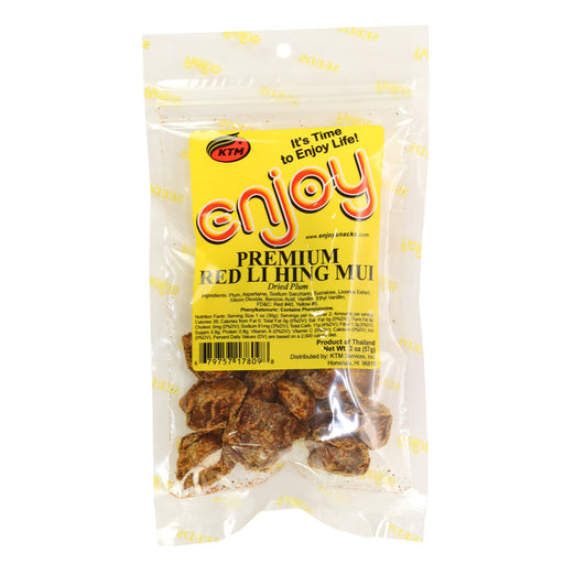 Enjoy Premium Red Li Hing Mui - 2 oz or 6 oz