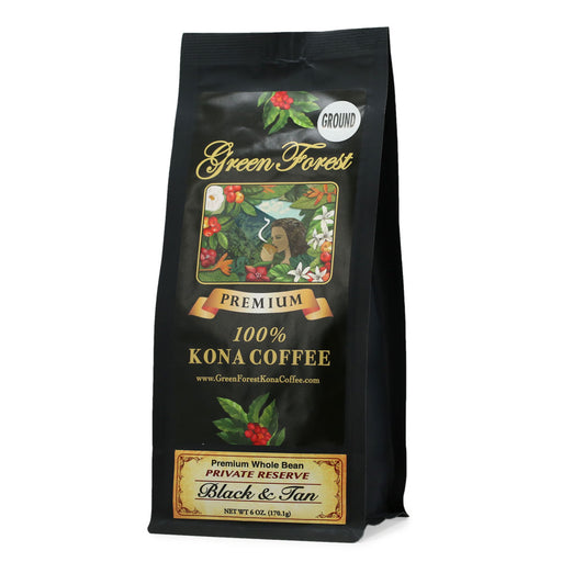Green Forest 100% Kona Coffee Black & Tan - 6 oz