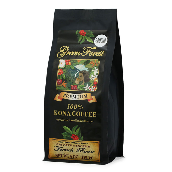 Green Forest 100% Kona Coffee French Roast - 6 oz