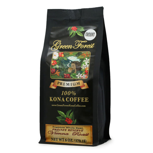 Green Forest 100% Kona Coffee Vienna Roast - 6 oz