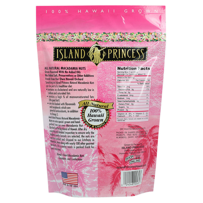 Island Princess All Natural Hawaiian Macadamia Nuts