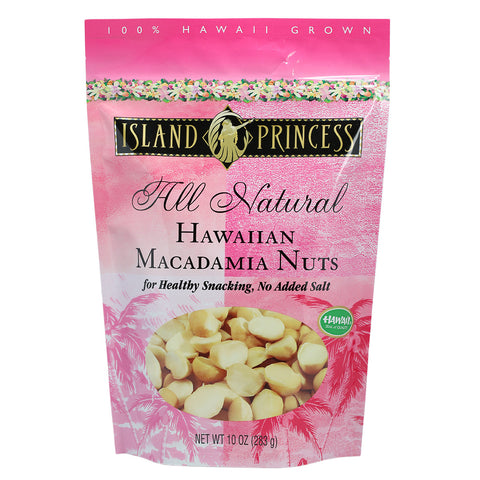 Island Princess All Natural Hawaiian Macadamia Nuts - 10 oz
