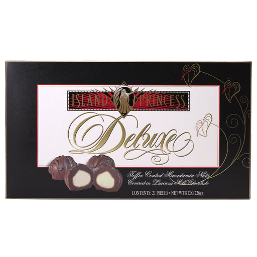 Island Princess Deluxe Toffee Coated Macadamia Nuts Covered in Milk Chocolate