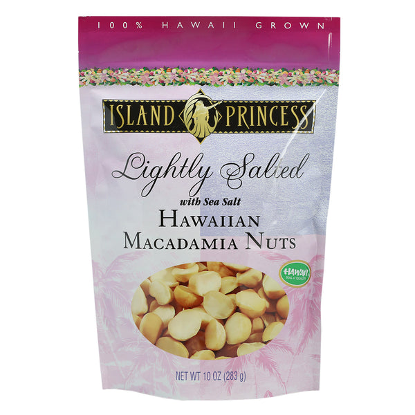 Island Princess Lightly Salted Hawaiian Macadamia Nuts - 10 oz