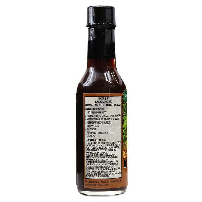 For J's Kiawe Liquid Smoke - 5 oz