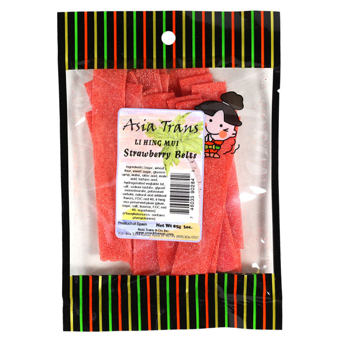 Li Hing Mui Strawberry Belts - 2.7 oz (PROMO)